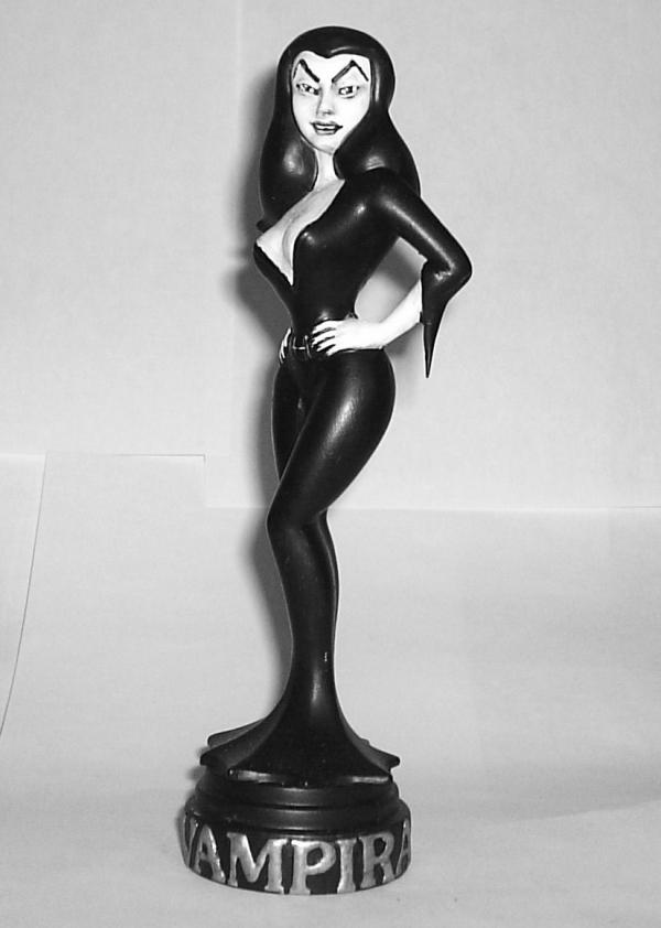 """Animated Vampira"" Statue (Black and White Version)"