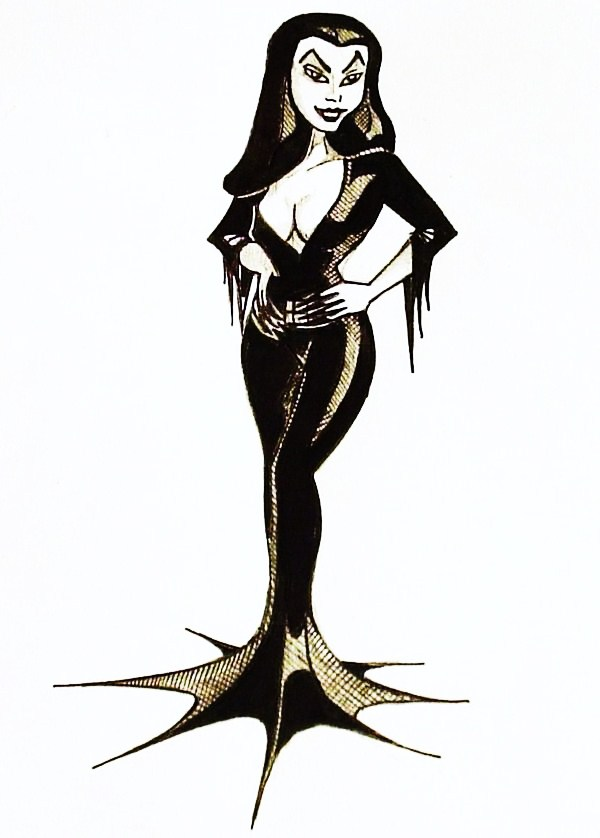 """Animated Vampira"" Original Concept Art"